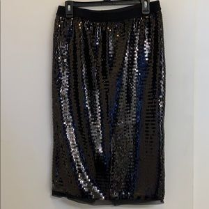WhoWhatWear Long Sequin Pencil Skirt